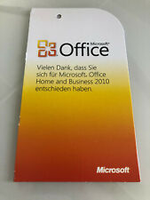 Original Microsoft Office 2010 Home and Business PKC (Product Key Card) TOP
