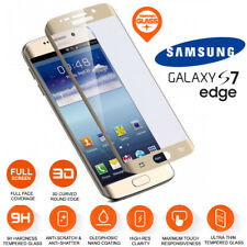 Samsung Galaxy S7 Edge Full Curved Tempered Glass LCD Screen Protection Gold