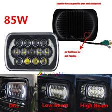 """85W 7x6"""" 5x7"""" Square LED Light Bulbs Hi/Lo Beam Headlight DRL For Jeep XJ YJ"""