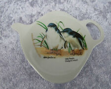 ASHDENE TEA BAG HOLDER/TEASPOON REST - LITTLE PENGUIN - BIRDS OF AUSTRALIA