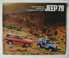 JEEP AMC 1979 dealer brochure - French - Canada CJ-5 CJ-7 Cherokee Wagoneer