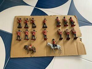 Original Vintage Rare, Pre War Set of 16 Military Band Soldiers, Handpainted.
