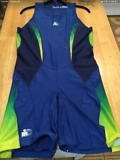 Iron Man Active Cycling Wear Short Outfit XXL Blue/Neon Greenish Yellow