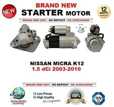 FOR NISSAN MICRA K12 1.5 dCi 2003-2010 BRAND NEW STARTER MOTOR 1.4kW 12-Teeth