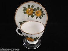 ROYAL MALVERN Bone China England Yellow Sundrops Flower Tea Cup & Saucer Set
