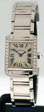 Cartier Tank Francaise RARE 18k White Gold and Diamond $33,500.00 ladies watch.