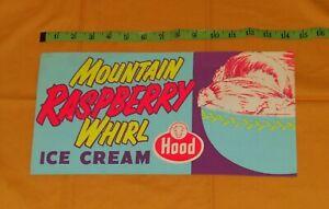 vintage HOOD ICE CREAM MOUNTAIN RASPBERRY WHIRL retail store display sign