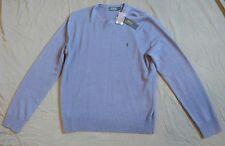 $325 Polo Ralph Lauren 100% Cashmere Crew Blue Violet Sweater Mens size M