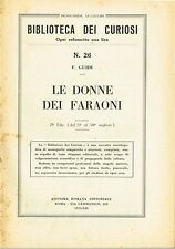 Biblioteca dei curiosi N.26 - Le donne dei faraoni (1934)