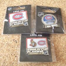 3 - Different 2015 Stanley Cup Playoffs pins NHL Montreal Canadiens pin