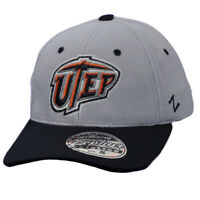 NCAA Zephyr UTep Texas El Paso Miners Flex Fit Small Hat Cap Gray Stretch