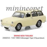 GREENLIGHT 29920 D CLUB V DUB 1966 VW VOLKSWAGEN TYPE 3 SQUARE BACK 1/64 CREAM