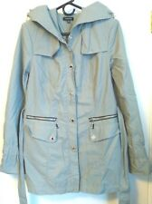 Saks Fifth Avenue Womens Size 6 Slate Gray Full Zip Button Coat Long Jacket