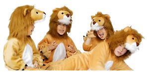 Löwe Löwen Lion Löwenkostüm Kinder Kostüm Overall Plüsch Tier Damen Herren Tiger