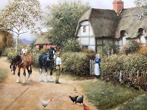 "signed ltd edition framed print "" tillington farm "" 821 of 850 by richard simm"