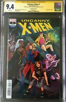 Uncanny X-Men #1 CGC 9.4 signed by Matt Rosenberg (story), Jen Bartel (cover)