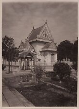 SIAM CAMBODGE CAMBODIA Watt Smootprakarn Photo Vintage Argentique ca 1930