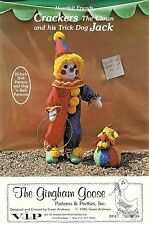 Vintage Gingham Goose Sewing Pattern ~ Crackers The Clown and His Trick Dog Jack