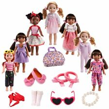 KYToy 6PCS Fits 12/'/' 13/'/' 14/'/' 15/'/' Bitty Baby Alive Doll Clothes 360°Sewing Am