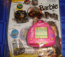 LAST 1> Giga Pets Barbie Electronic Keychain New In Package Sealed Tiger  Rare