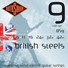 ROTOSOUND BRITISH STEEL BS9 STAINLESS STEEL ELECTRIC GUITAR STRINGS 9-42  for sale