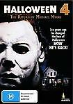 Halloween 4 - The Return Of Michael Myers (DVD, 2012) BRAND NEW SEALED