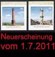 Norderney u. Warnemünde Mi-Nr. 2875-2876 Bund Selbstklebend **, sk, skl, Leuchtt