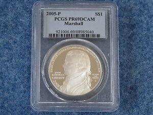 2005-P Chiel Justice Marshall Silver Dollar PCGS PR69DCAM Gem Proof B7677