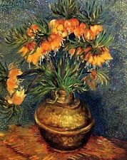 Fritillaries in a Copper Vase by van Gogh Giclee Canvas Print or Fine Art Poster
