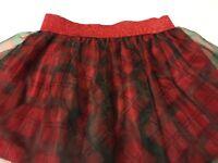 Tutu Skirt 3T Plaid Toddler Baby Girls Red Plaid