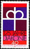 810 postfrisch BRD Bund Deutschland Briefmarke Jahrgang 1974