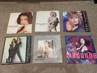 """Job Lot Of 6 x 7"""" Madonna Vinyl Records"""