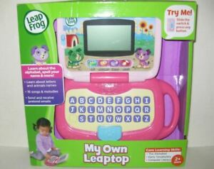 LeapFrog My Own LeapTop Kids Pretend Laptop Computer Educational Toy, PINK, NEW