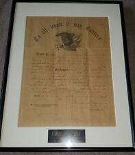 Civil War Discharge Papers Union Penn. Volunteers 2nd Artillery 1865