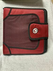 """Case It-The Open Tab-3 Ring Binder-2"""" Capacity In Red.  See Photo Of Back."""