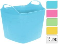 Square 15 Litre Flexi Trug Storage Tub Flexible Baskets Laundry Toy Bucket
