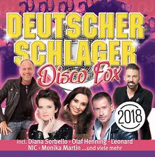 CD Deutscher Schlager Disco Fox 2018 von Various Artists 2CDs