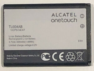 Officiall Alcatel TLi004AB Original Replacement Battery 400mAh