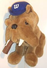 Plush Dog - bull dog w/ith a cigar -opening on bottom for golf club - W on hat