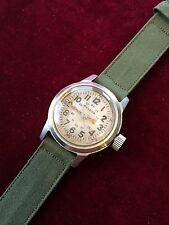 Ultra Rare Bulova Military Issued Wristwatch 3818A Hack Set Men's Watch 10BNCH