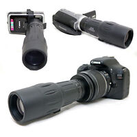 10x 42 1000mm Telescope for Canon EOS Rebel T3i 600D Kiss X5 EF-s 18-55mm Lens