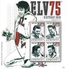 Elvis Presley $2.50 Dominica Souvenir Stamp Sheet 4 Stamps 2010 Commonwealth of
