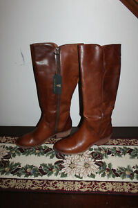 Frye Carson Piping Tall Caramel Extended Leather Boots Sized 11 M w/ tag