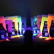 25 x NEON Holi Pulver Festival Farbbeutel Fotoshooting Faben LEUCHTEN UV