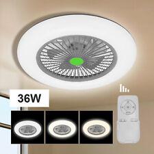 LED Dimmbar Decken Ventilator Luft Kühler Wohn Raum Leuchten mit  Fernbedienung