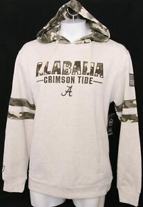 NEW Alabama Crimson Roll Tide Colosseum Camo Hoodie Hooded Sweatshirt Men's L