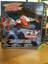 Air Hogs RC Orange and White Fly Crane Helicopter Remote Control NIB