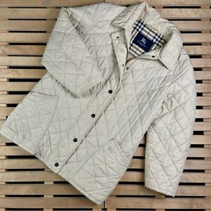 Womens Quilted Jacket Burberry London Size 40
