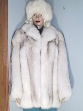 Harry K. Ott fine furs blue fox fur coat, approx. S, #781