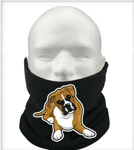 Boxers Gift Pets Thermal Fleece Scarf Snood Gift Neck Warmer Boxer